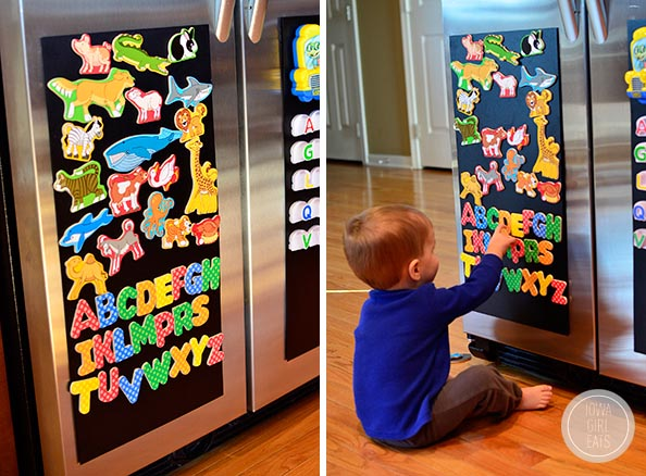 Diy magnetic board for a stainless steel fridge iowa girl eats - What you can do with magnets ...