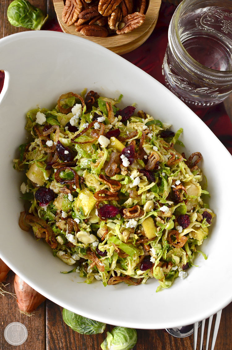 Fall shredded brussels sprouts salad video iowa girl eats - Quince recipes for babies a healthy fall ...