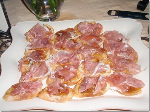 Prosciutto and Fig Preserve Crostini