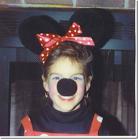 kristin as minney mouse in 91