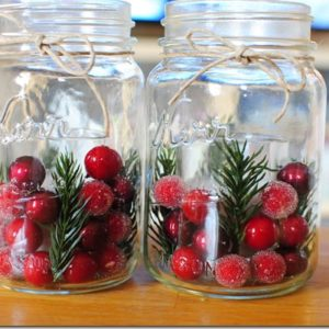 DIY Spruce and Berry Jars