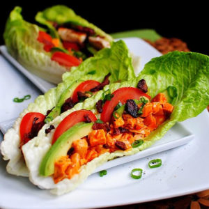 Buffalo Chicken BLAT Wraps