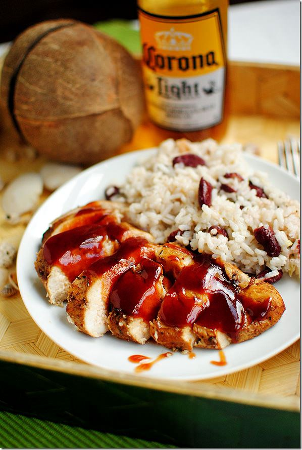 Jamaican jerk chicken with jamaican red beans and rice iowa girl eats dsc0642 forumfinder Image collections