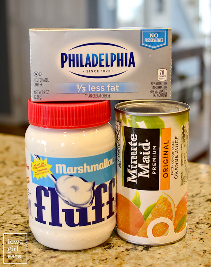 Ingredients to make The Best Fruit Dip Ever