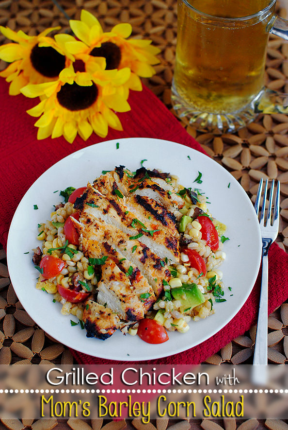 Healthy Clean Eating Grilled Chicken with Grains   Homemade Recipes http://homemaderecipes.com/bbq-grill/19-memorial-day-recipes