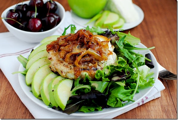 Orchard Turkey Burgers are the perfect burger recipe for fall. Spiked with grated apple, they're super juicy and anything but boring! | iowagirleats.com