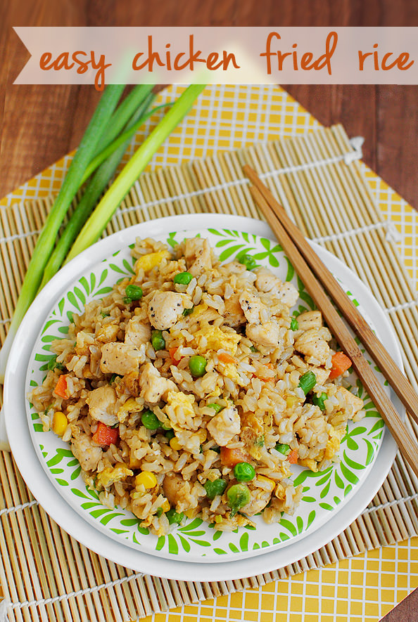 Easy Chicken Fried Rice Glutenfree