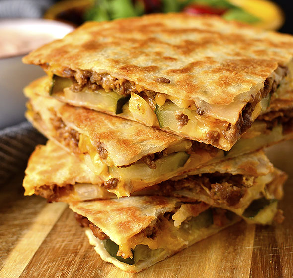 Featured image of Cheeseburger Quesadillas