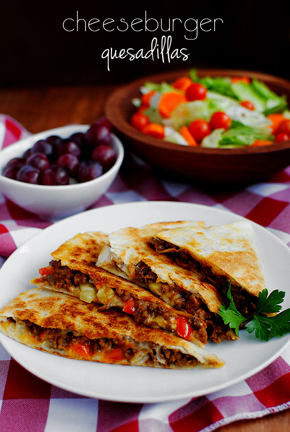 Photo of Cheeseburger Quesadillas