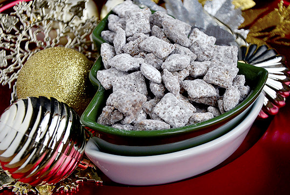 gluten free puppy chow is a quick and classic gluten free holiday treat - Christmas Puppy Chow
