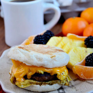 Copycat McDonalds Sausage, Egg and Cheese McMuffin