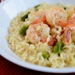 Simple Shrimp and Asparagus Risotto