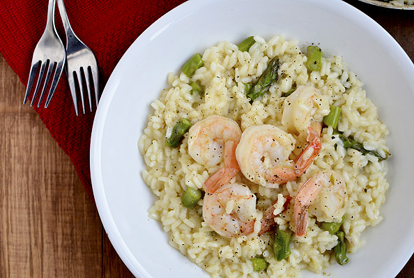 wide angled photo of bowl of risotto