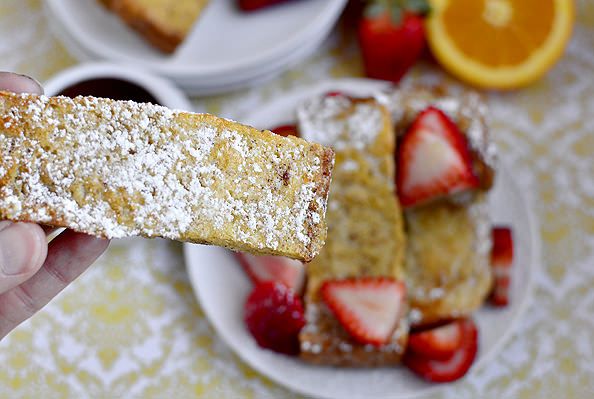 Baked French Toast Sticks | iowagirleats.com