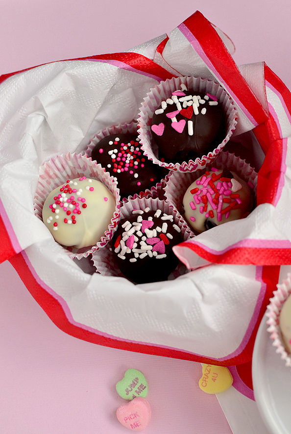 Brownie Mix Truffles via Iowa Girl Eats