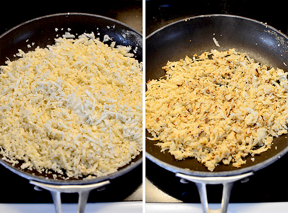 Low-Carb Breafkast Skillet made with cauliflower hash browns | iowagirleats.com