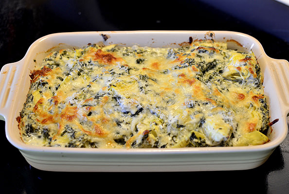 Spinach and Artichoke Dip Chicken - Iowa Girl Eats