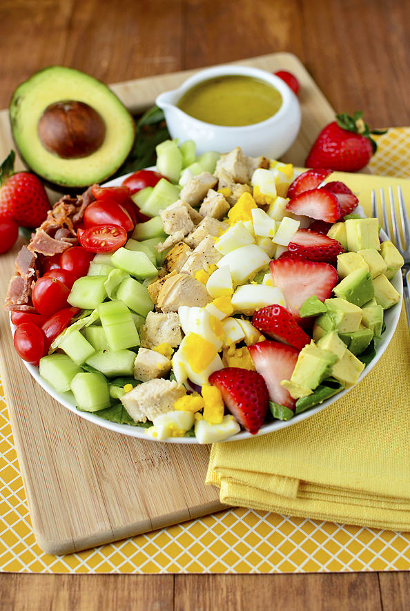 California Cobb Salad with Tarragon Vinaigrette | iowagirleats.com