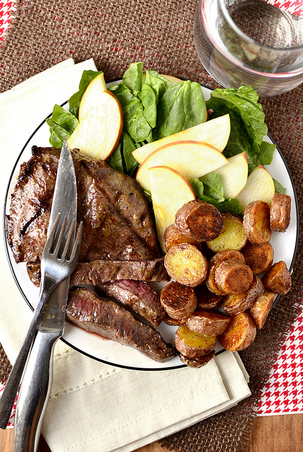 Dijon-Brown Sugar Marinated Steak | iowagirleats.com