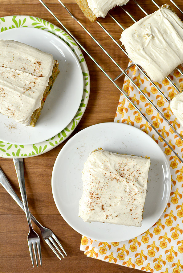 Magic Carrot Cake Bars | iowagirleats.com