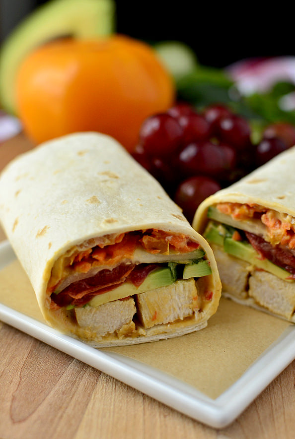 Summer Chicken Wrap | iowagirleats.com