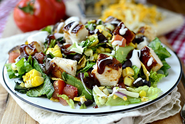 Bbq chicken chopped salad iowa girl eats for Easy salad ideas for bbq