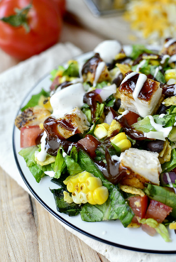 salad chicken chopped bbq salads chop healthy sensational recipes entree barbecue iowagirleats sophie bobby cheese eats iowa flay ranch pork