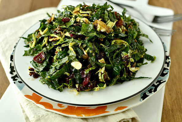 Kale Chopped Salad with Maple-Almond Vinaigrette | iowagirleats.com