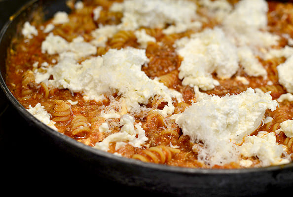 Perfect Three Cheese Skillet Lasagna | Iowagirleats.com