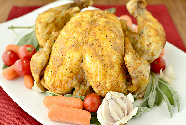 Crock Pot Roast Chicken | iowagirleats.com