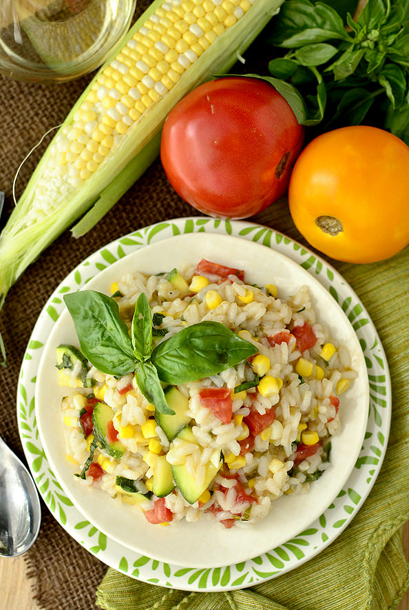 Summer Farmers Market Risotto | iowagirleats.com