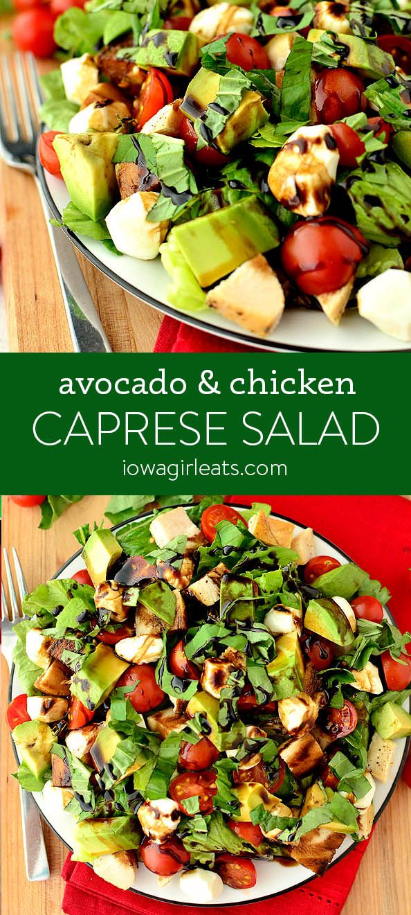 Photo collage for Avocado and Chicken Caprese Salad