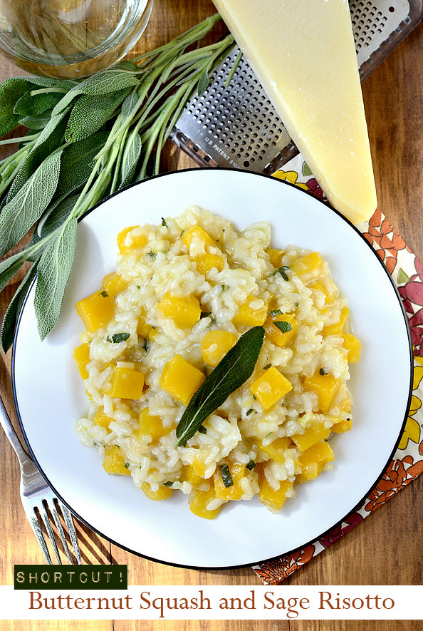 Shorcut Butternut Squash Risotto with Sage | iowagirleats.com