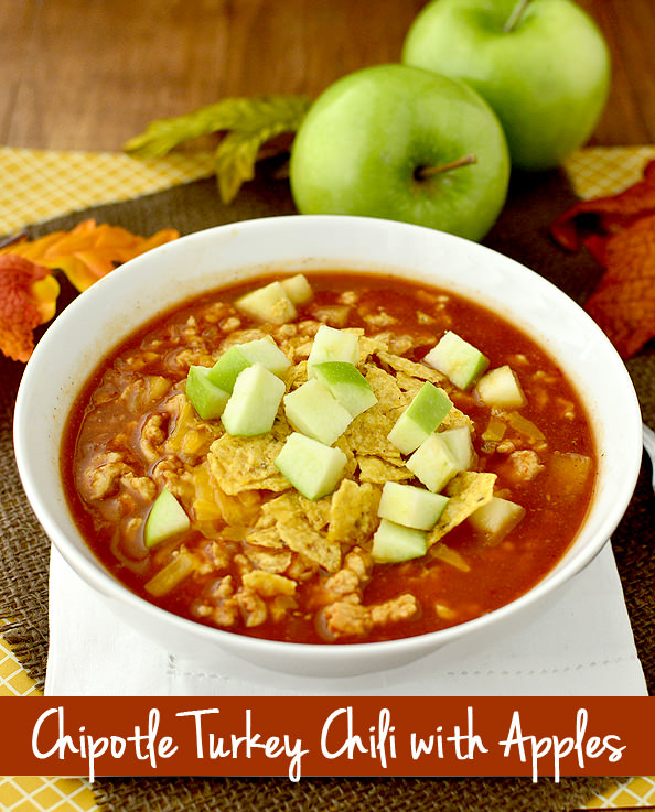 Chipotle Turkey Chili with Apples | iowagirleats.com