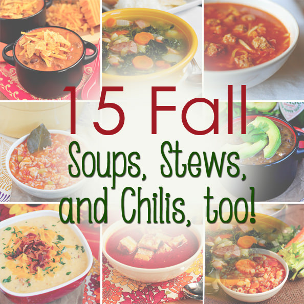 15 Fall and Winter Soup Recipes | https://iowagirleats.com/2013/10/21/15-fall-soup-recipes/