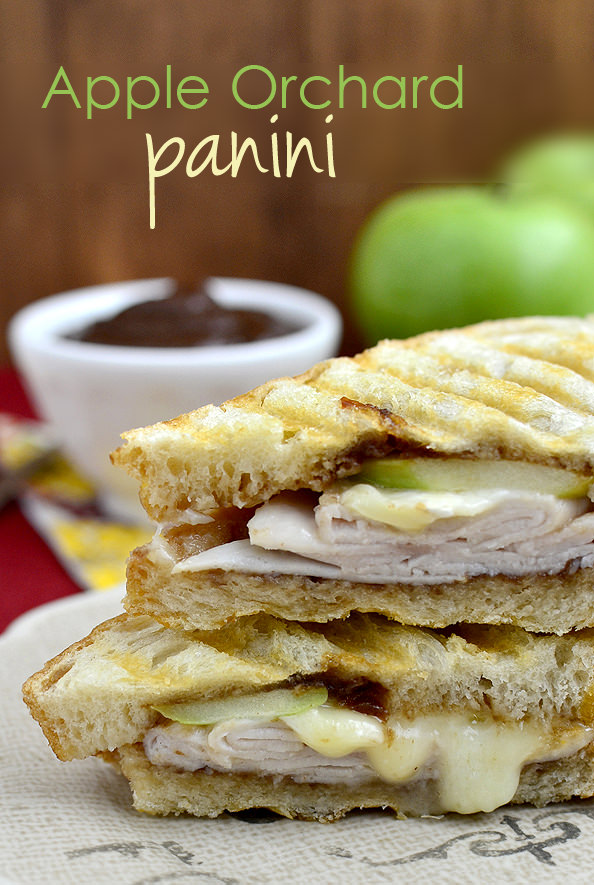 Apple Orchard Panini is a hearty, grilled cheese recipe packed with melty cheese, deli turkey, fresh apple slices, and apple butter. Fall sandwich perfection!