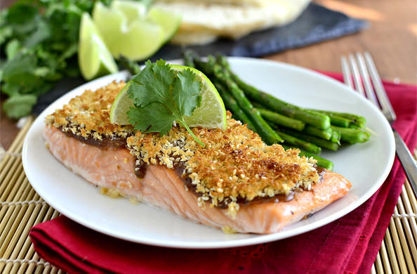 Crispy Baked Asian Salmon | iowagirleats.com