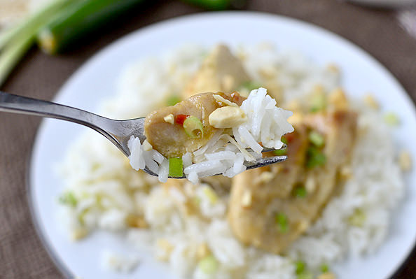 Crock Pot Thai Chicken | iowagirleats.com