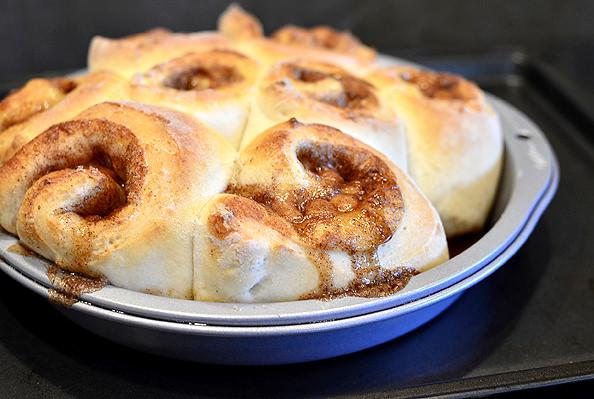 Shorcut Caramel Cinnamon Rolls with Cream Cheese Frosting | iowagirleats.com
