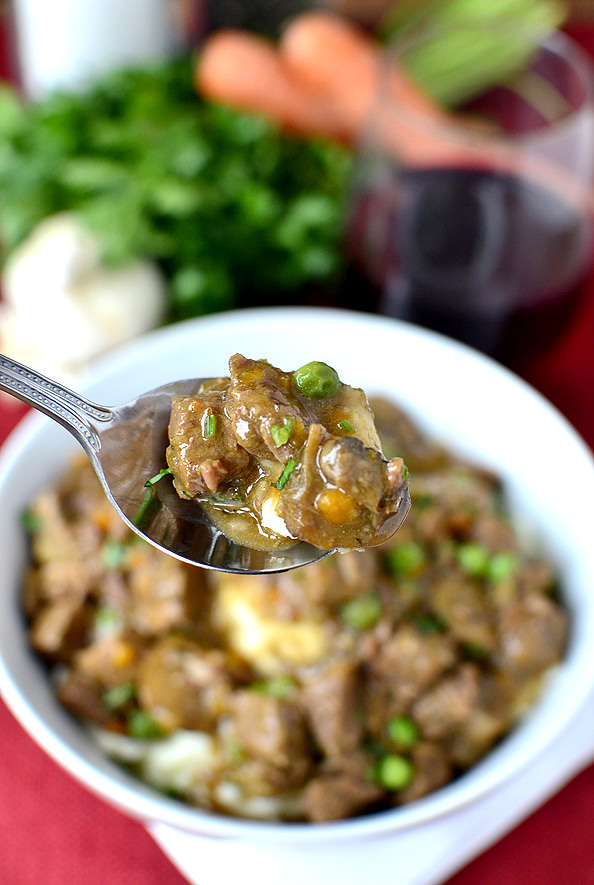 spoonful of beef stew
