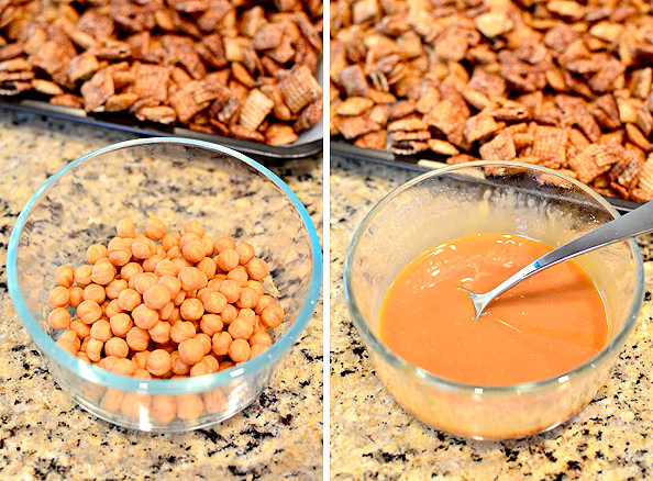 Snickers Chex Mix #dessert | iowgirleats.com