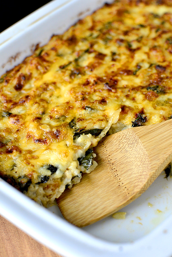 Beecher's Smoky Kale and Brown Rice Gratin #sidedish | iowagirleats.com