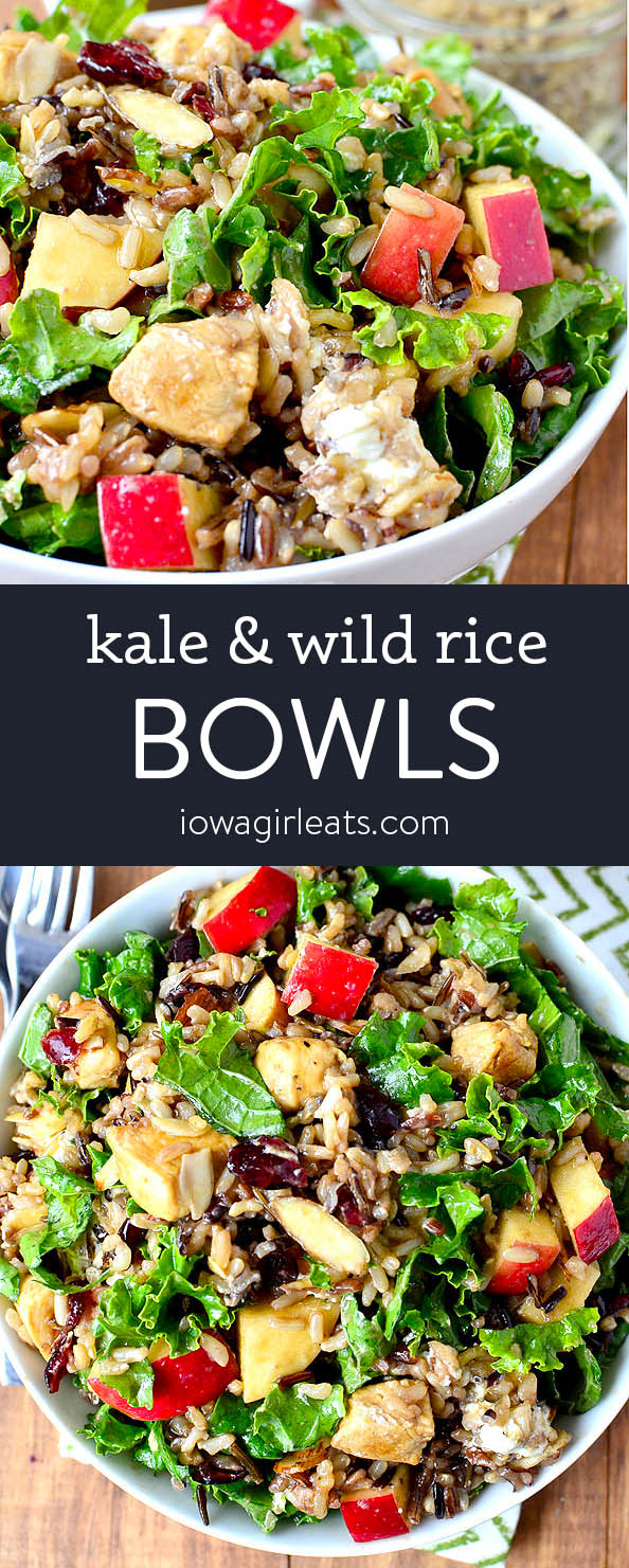 Photo collage of Kale and Wild Rice Bowls