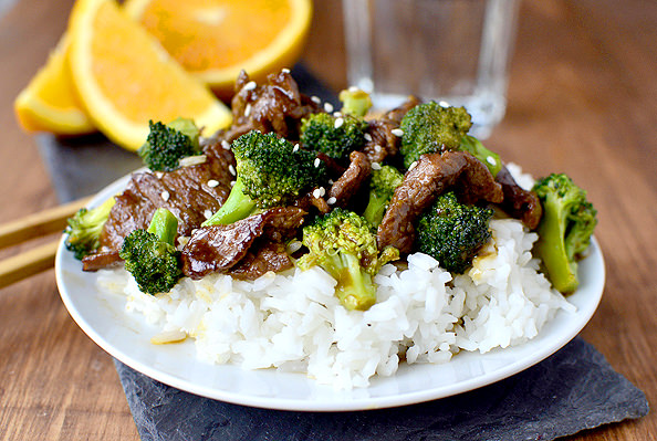 Lighter Orange Beef and Broccoli | iowagirleats.com