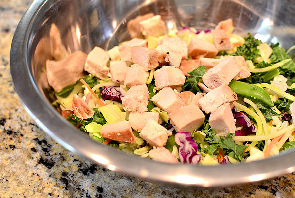 Crunch Lover's Chopped Chicken Salad | iowagirleats.com