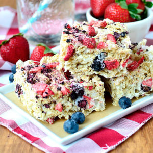 Strawberry-Blueberry Vanilla Chex Bars