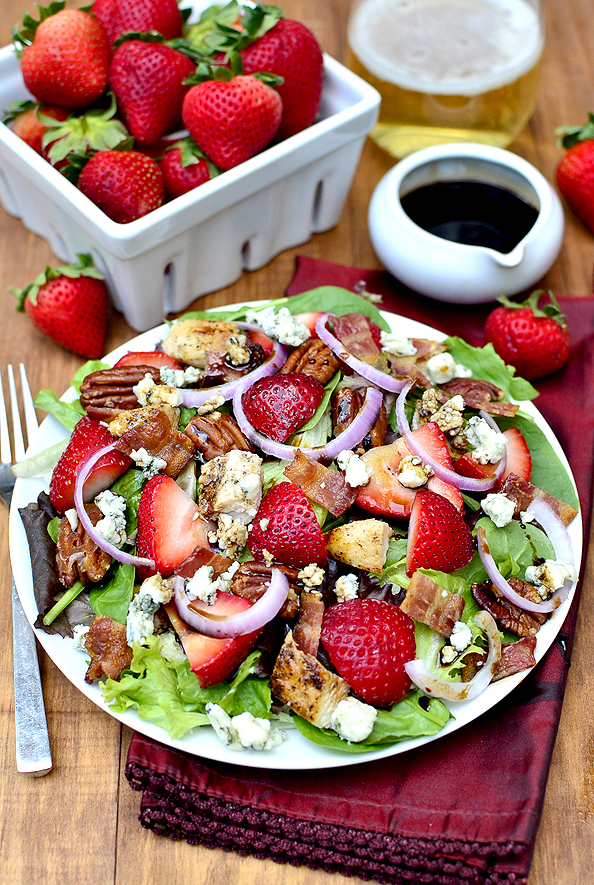 Strawberry Fields Salad #glutenfree | iowagirleats.com