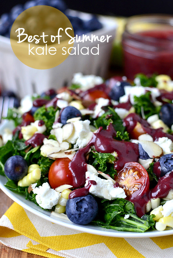 Best of Summer Kale Salad | iowagirleats.com