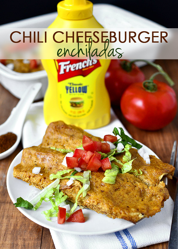 Chili Cheeseburger Enchiladas | iowagirleats.com