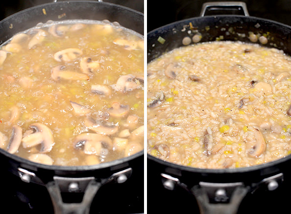 Bacon, Leek and Mushroom Risotto #glutenfree | iowagirleats.com